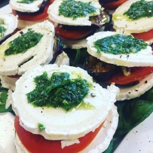 Mediterranean Vegetable Stack on a plate