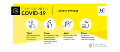 coronavirus advice from HSE