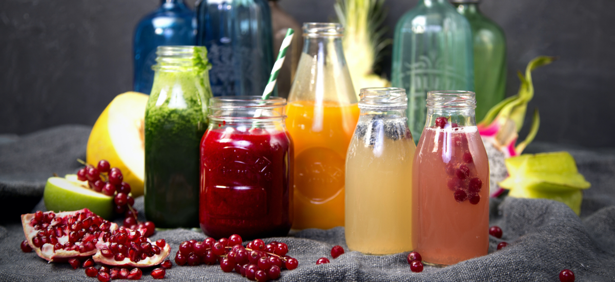 picture of smoothies and juices