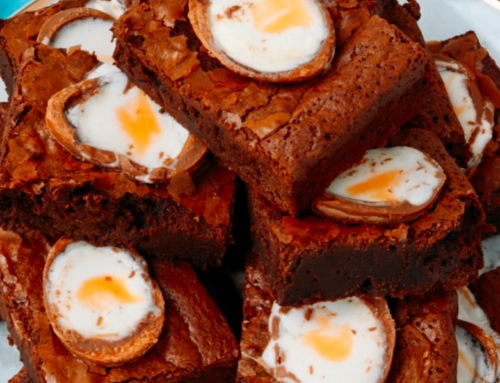 Orla's Knockout Creme Egg Brownies