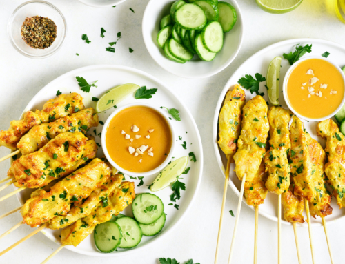 Chicken Peanut Satay Skewers